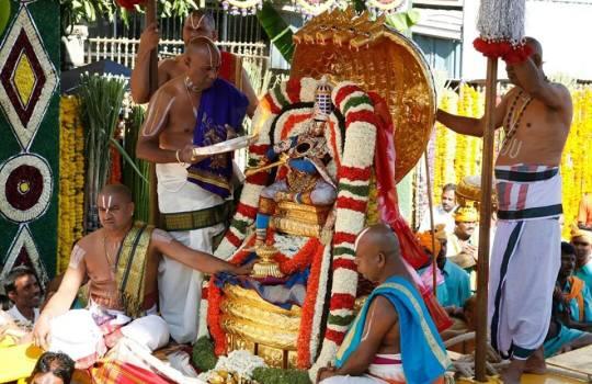 Lord Sri Venkateswara On China Sesha Vahanam In Tirumala Brahmotsavams,2014