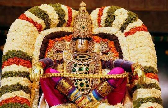 Lord Sri Venkateswara On Simha Vahanam In Tirumala Brahmotsavams,2014
