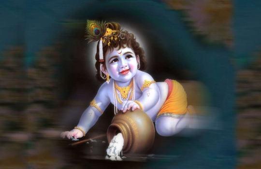 Lord Sri Krishna As A Boy