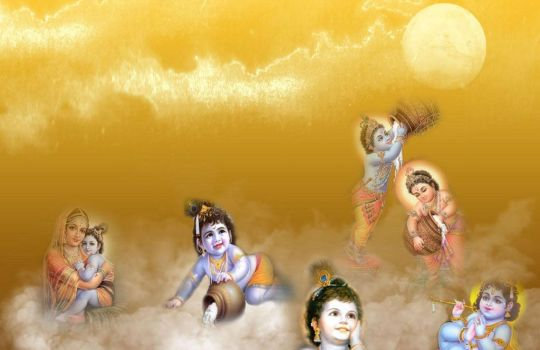 Lord Krishna In The Form Of A Child