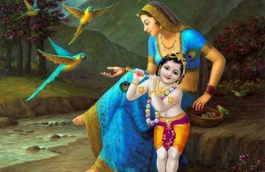 Yashoda With Lord Krishna