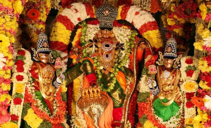 Lord Venkateswara With Sridevi And Bhudevi