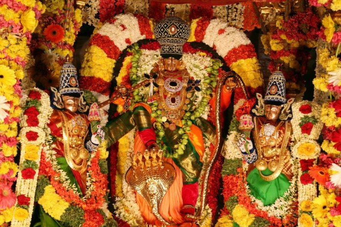 Lord Venkateswara With Sridevi And Bhudevi