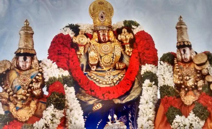 Sri Govindaraja Swamy With His Divine Consorts In Tirupati