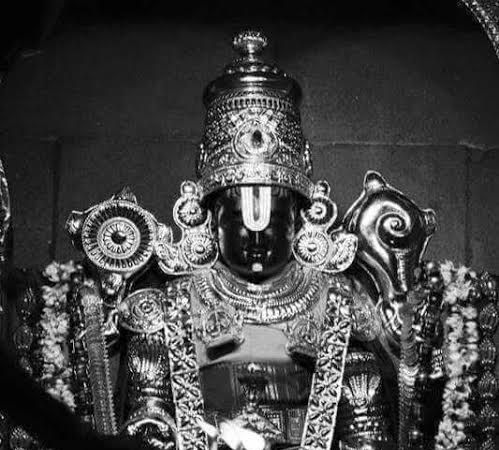 A Very Old Photograph Of Lord Venkateswara