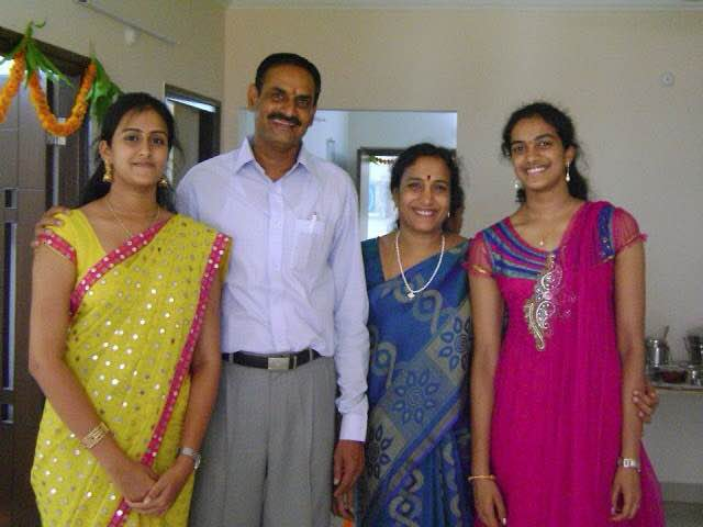 P V Sindhu With Her Family