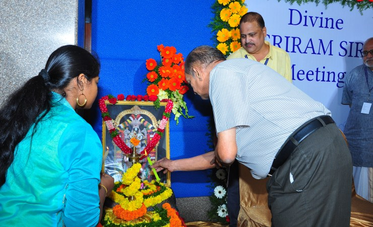 Sridahr Rao Garu Lighting The Lamp