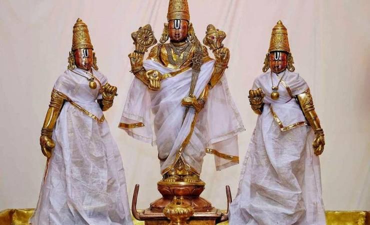 Lord Venkateswara And His Divine Consorts