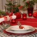 ungarische Tischdeko - Tischdekoration Ungarn in rot mit Paprika