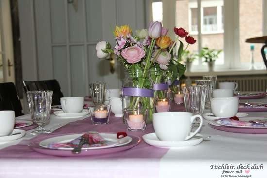 Tischdekoration Geburtstag im Mai 01
