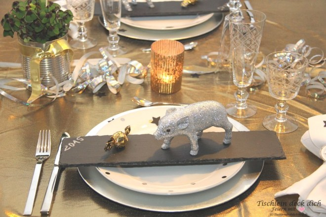 Tischdekoration Silvesterabend
