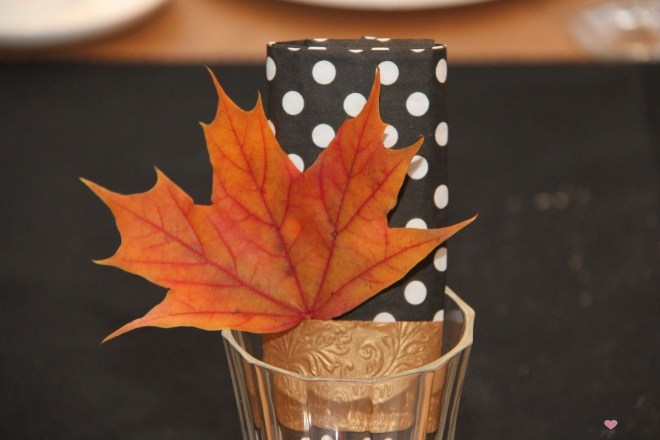 Herbstdeko Serviette