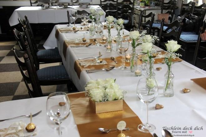 Goldhochzeit Tischdekoration Gimbte