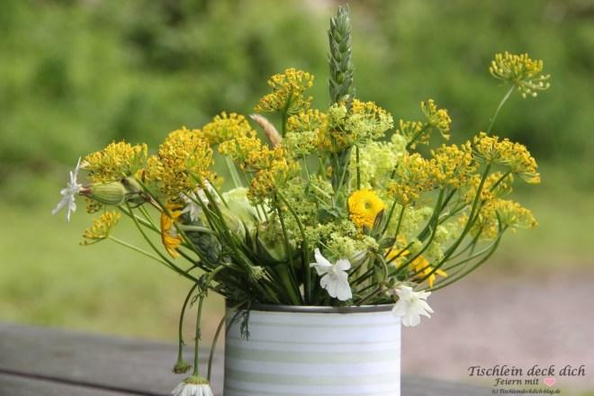 Grillfest Blumenschmuck Wiesenblumen