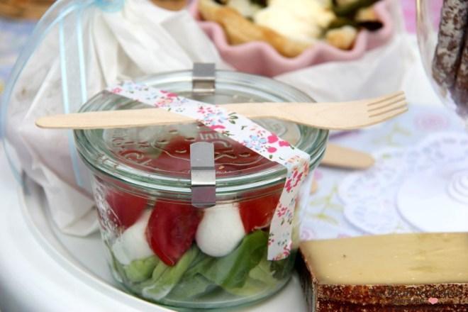 Picknick Salat im Glas