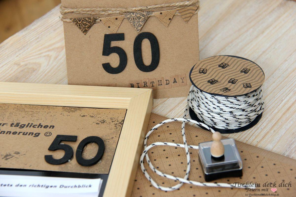 Geldgeschenk 50. Geburtstag - Tischlein deck dich