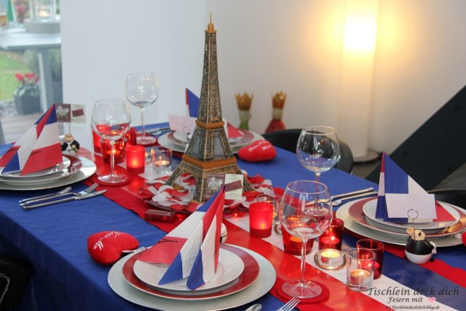 Paris Tischdekoration Eifelturm