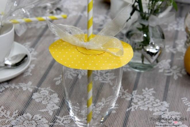 Zitronenfest Tischdekoration Insektenschutz