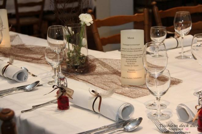 Tischdeko zum 70. Geburtstag