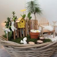 Minigarten - frühlingshaftes Geldgeschenk zum runden Geburtstag