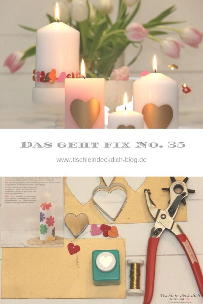 Romantische Kerzendekoration