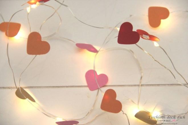 romantische Lichterkettendekoration