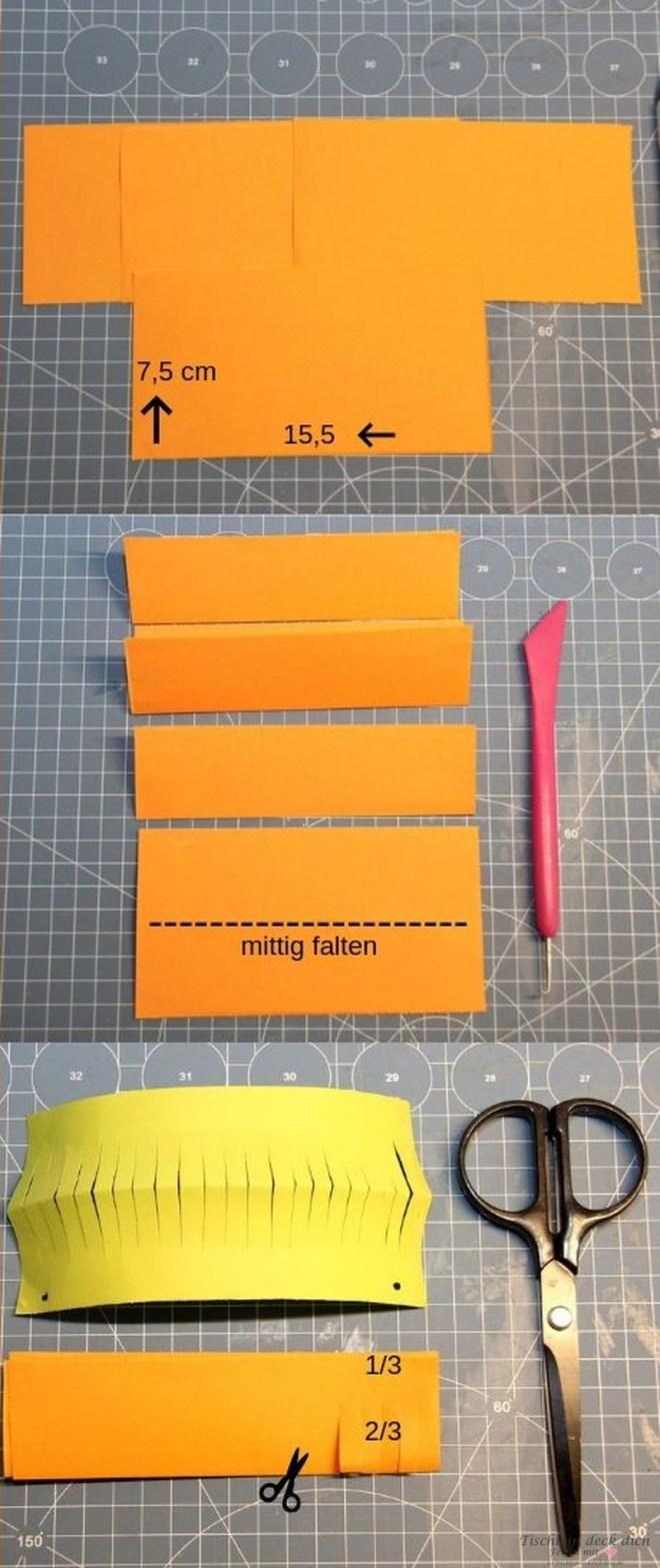 Bastelanleitung fuer kleine Laternen aus Papier