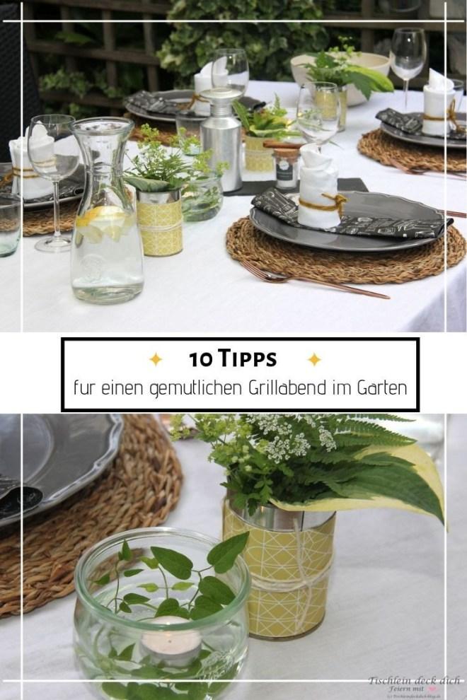 10 Tipps für einen gemuetlichen Grillabend im Garten