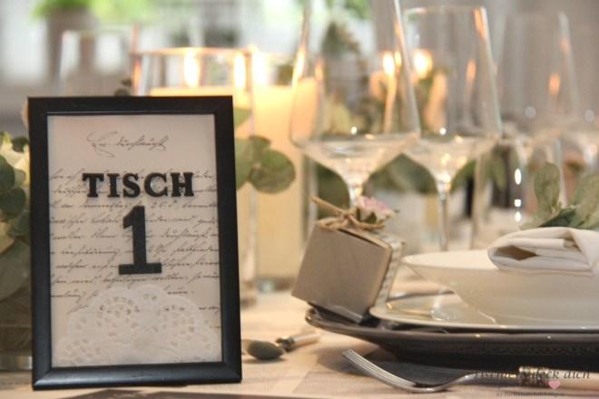 Tischnummern zur Hochzeit nachhaltig und umweltbewusst