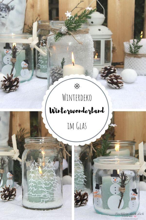 Winterwonderland - Glaeser winterlich dekorieren