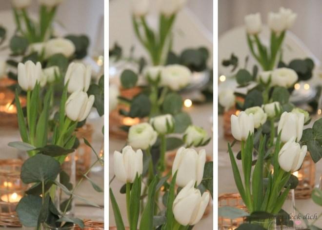 Blumendekoration Kommunion