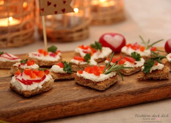 Herzen aus Toastbrot zum Valentinstag
