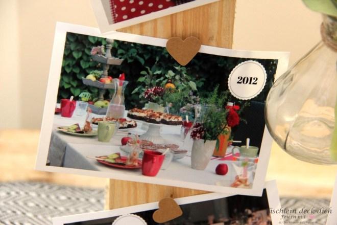 Apfelfest, herbstliche Tischdekoration