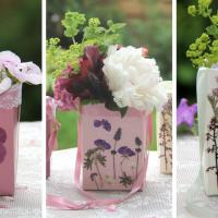 Kreativ-Freitag No. 10 - Basteln mit Milchtüten - ein Geschenk aus dem Garten