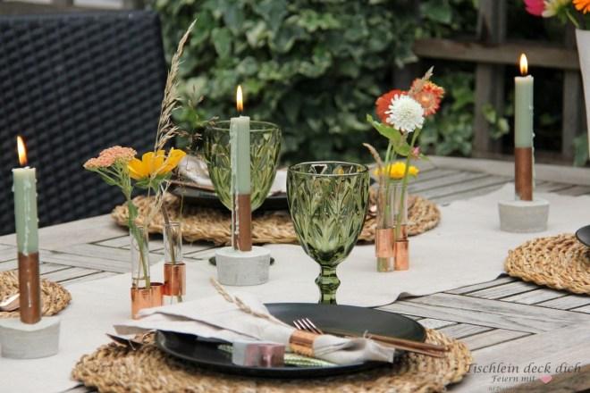 Tischdeko made by Baumarkt