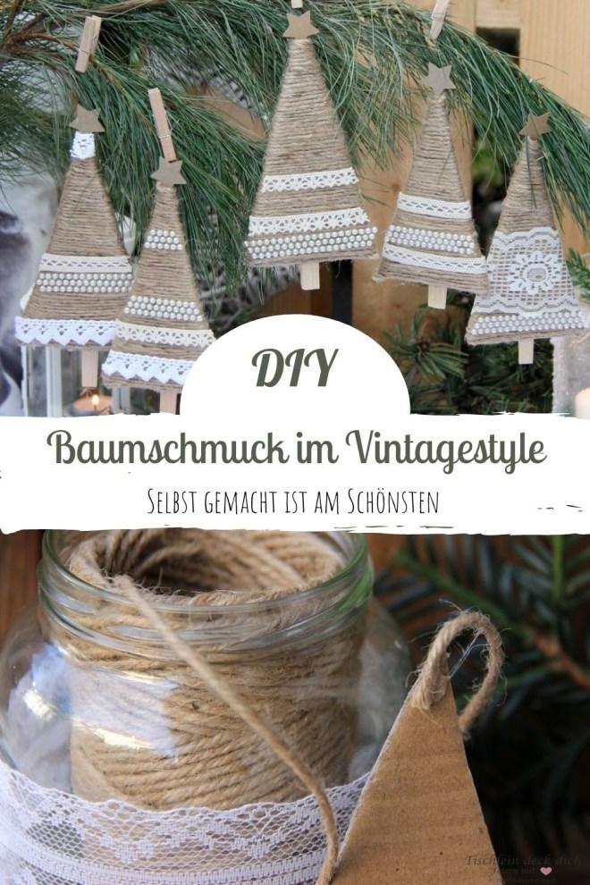 Weihnachtsbaumschmuck im Vintagestyle