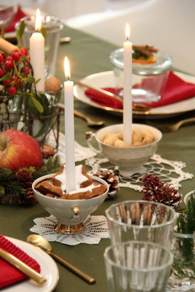 festliche weihnachtliche Tischdekoration - feiern wie zu Omas Zeiten