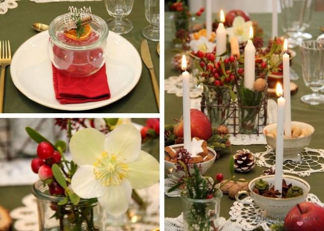 festliche weihnachtliche Tischdeko