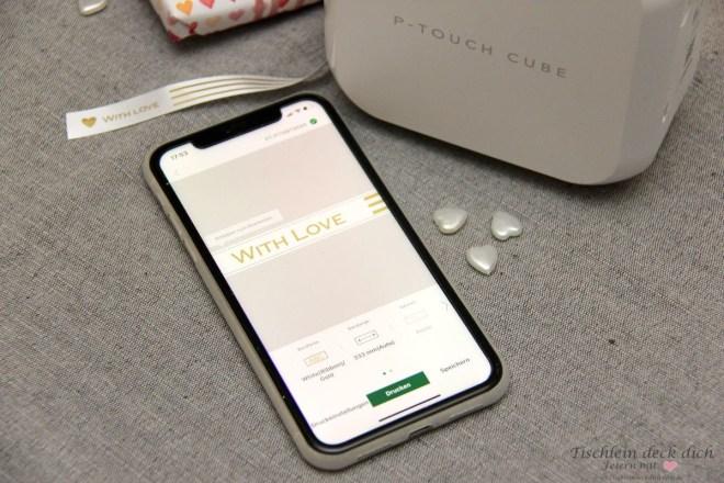 per App und dem P-touch Cube Plus von Brother beschriften