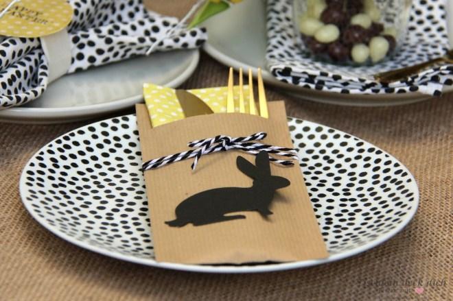 Bestecktasche basteln für Ostern