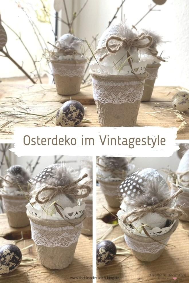 Kleine Osterbastelei im Vintagestyle