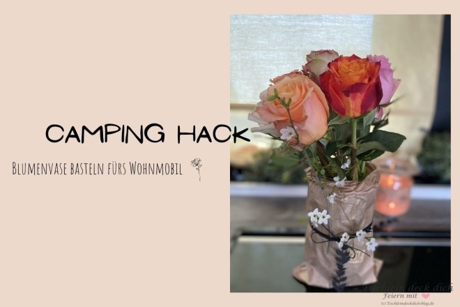 Camping Hack Blumenvasen DIY