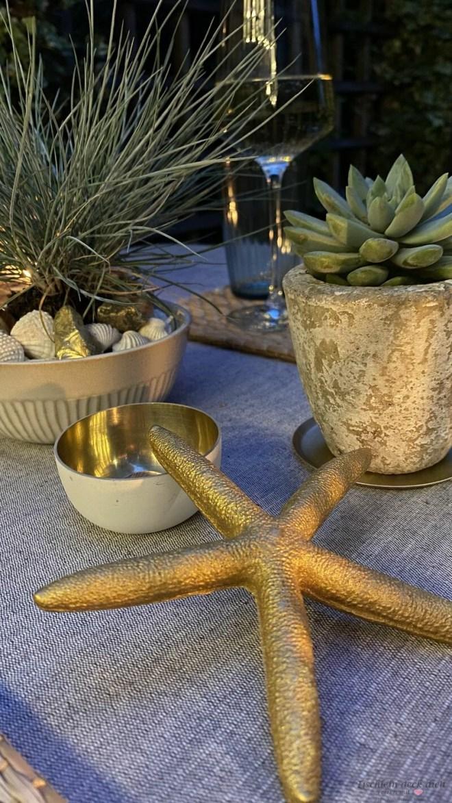 sommerliche Tischdeko im maritimen Look