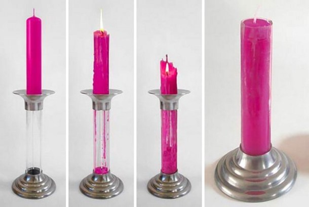 candele riutilizzabili