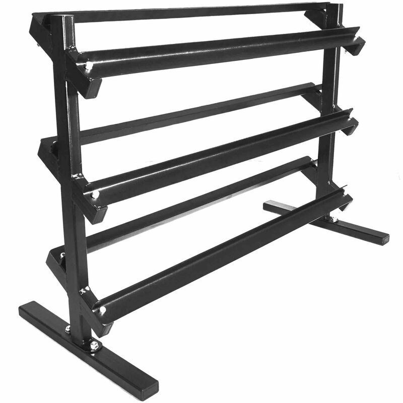 3 tier dumbbell weight rack