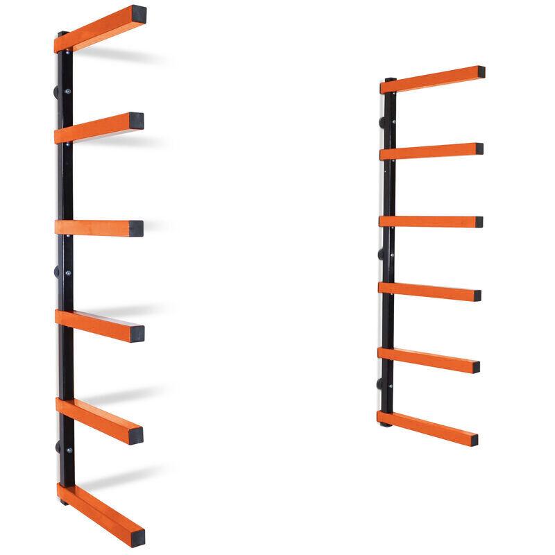 6 shelf lumber storage rack steel wall mounted indoor outdoor