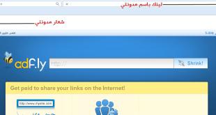 انشاء رابط مخصص باسم موقعك لاختصار الروابط علي ADF.LY