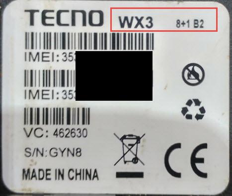 TECNO WX3 8+1B2
