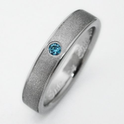 Birken 2 Titanium Ring With Blue Diamonds Titanium