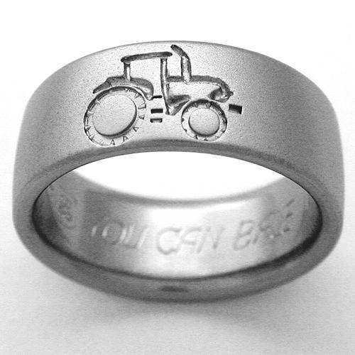 Emporia 1 Titanium Ring With Tractors Titanium Wedding